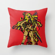 HATHOR ~ RED Throw Pillow