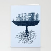 The World Against The Wo… Stationery Cards