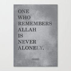 One Who Remembers Allah Canvas Print