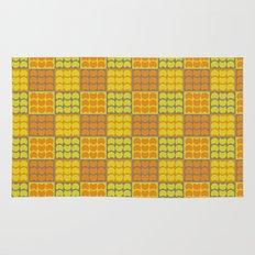 Hob Nob Orange Quarters Rug