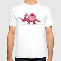 Cupcakeceratops Mens Fitted Tee White SMALL