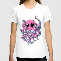 Octopus Womens Fitted Tee White SMALL