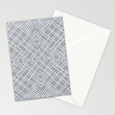 Map Outline 45 Grey Repeat Stationery Cards
