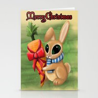 Bunny Xmas Card Stationery Cards
