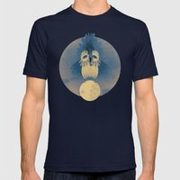 Night Owling Mens Fitted Tee Navy SMALL