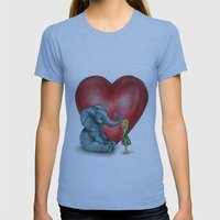 Pachyderm's  bouquet Womens Fitted Tee Athletic Blue SMALL