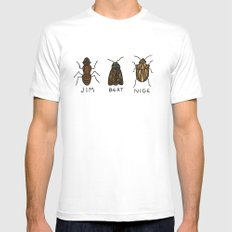bugs. White Mens Fitted Tee SMALL