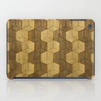 Wooden Zig Zag Optical Cubes iPad Case