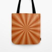 Orange Pleats Tote Bag