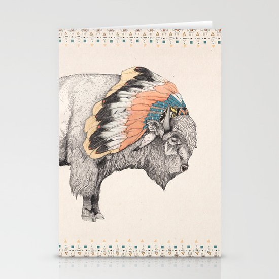 White Bison Stationery Card