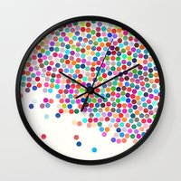 dance 9 sq Wall Clock