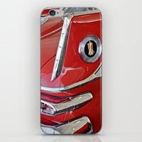 1958 Plymouth Fury Red & White Car iPhone & iPod Skin