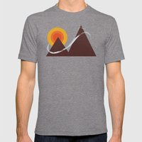 To The Summit Mens Fitted Tee Tri-Grey SMALL
