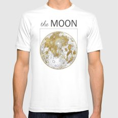 Golden Moon Mens Fitted Tee White SMALL