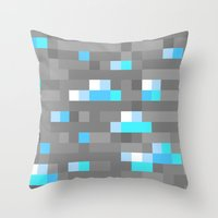 Mined Diamond Block Everything Throw Pillow
