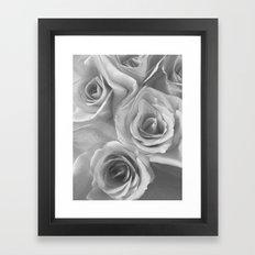 Roses in Black and White Framed Art Print
