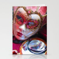 Colourful Masks Stationery Cards