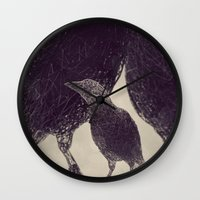 Mr Magpie Wall Clock
