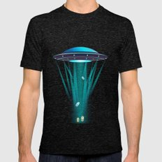 Abductees Mens Fitted Tee Tri-Black SMALL