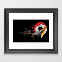 Blender with a Splatter Framed Art Print