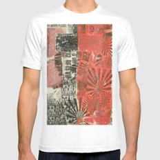 COLLAGE 2 SMALL White Mens Fitted Tee