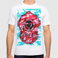 Strawberry Mens Fitted Tee Ash Grey SMALL
