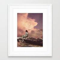 PEACHY Framed Art Print