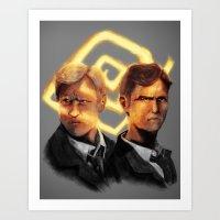 Detectives Art Print