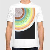 Colorful Abstract Slice of Giant Jawbreaker Candy Mens Fitted Tee White SMALL