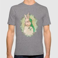 Follow The White Rabbit Mens Fitted Tee Tri-Grey SMALL