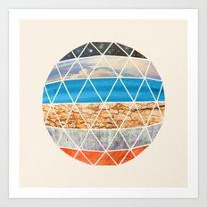 Eco Geodesic  Art Print