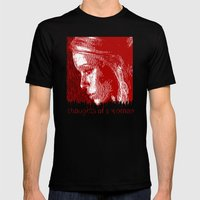 thoughtful woman Mens Fitted Tee Black SMALL