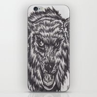 Angry wolf iPhone & iPod Skin