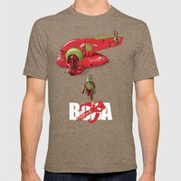 BobAkira (red With White… Mens Fitted Tee Tri-Coffee SMALL