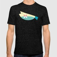 The Fish's Dream Mens Fitted Tee Tri-Black SMALL