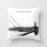 Golden Gate Bridge - San… Throw Pillow