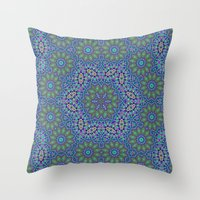 Lace Kaleidoscope Throw Pillow