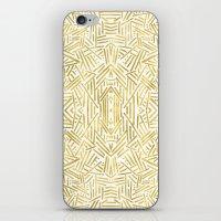 Radiate - Gold iPhone & iPod Skin