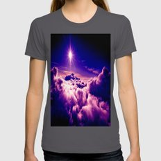 Purple Clouds Womens Fitted Tee Asphalt SMALL