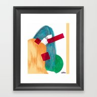 Framed Art Print featuring Waking Dream. by Martin Supercolores