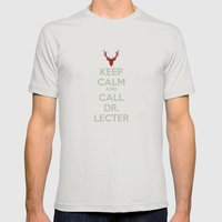 Keep Calm and Call Dr. Lecter Mens Fitted Tee Silver SMALL
