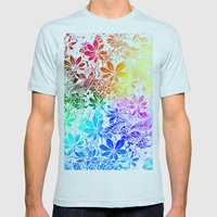 Flying Through Rainbows Mens Fitted Tee Light Blue SMALL