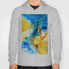 Iced Lemon Drop - Abstract Art By Sharon Cummings Hoody