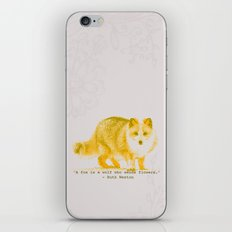 A Fox is a Wolf Who Sends Flowers iPhone & iPod Skin