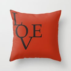 LOVE RED Throw Pillow