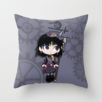 Steampunk Sailor Saturn - Sailor Moon Throw Pillow