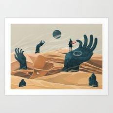 The wanderer and the desert portals Art Print