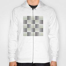 B/W crosshatch pattern Hoody