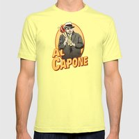 Al Capone Mens Fitted Tee Lemon SMALL