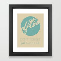 DFTBA Framed Art Print